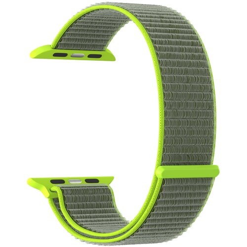 Фото - Нейлоновый ремешок для Apple Watch 42/44 mm LYAMBDA VEGA DS-GN-02-44-2 Gray-green нейлоновый ремешок для apple watch 42 44 mm lyambda vega ds gn 02 44 6 gray white