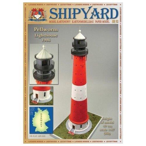 Фото - Сборная картонная модель Shipyard маяк Pellworm Lighthouse (№61), 1/87 сборная картонная модель shipyard маяк pellworm lighthouse 61 1 87