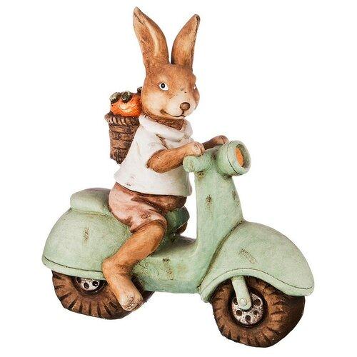 Фото - Статуэтка Lefard Кролик, 46 см коричневый/зеленый статуэтка lefard пастель 48 см белый зеленый