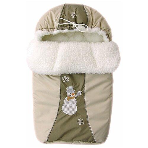 Фото - Конверт Золотой гусь меховой Снежинка (бежевый) сумка прикроватная золотой гусь пеленки трехслойная арт 3002