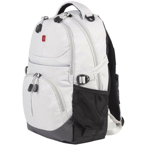 сумка планшет wenger текстиль светло серый Рюкзак WENGER универсальный, светло-серый, светоотражающие элементы, 22 л, 33х15х45 см, 3001402408-2