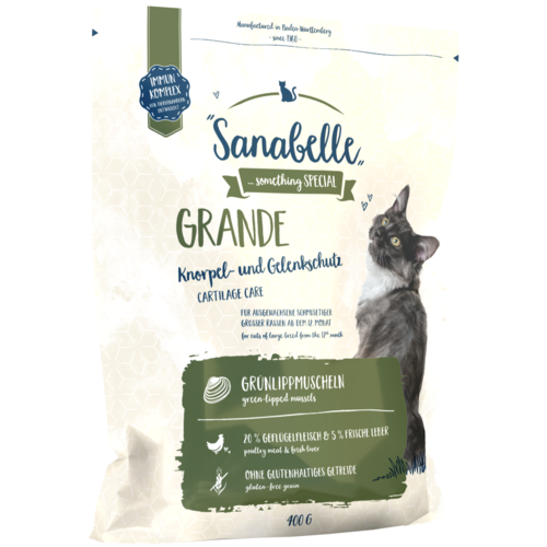 Фото - Сухой корм для кошек Sanabelle для кошек крупных пород 400 г sanabelle sanabelle snack полувлажное лакомство для кошек для улучшения пищеварения с сайдой и инжиром 55 г