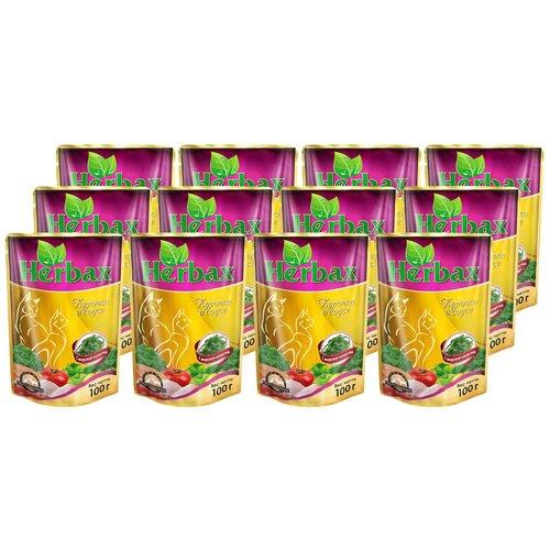 Влажный корм для кошек Herbax Курочка в соусе с морской капустой 24 шт. (0.1 кг) 24 шт. х 100 г