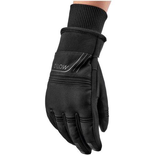 Перчатки туристические MOTEQ Pronto, мужской(ие), черный, размер M