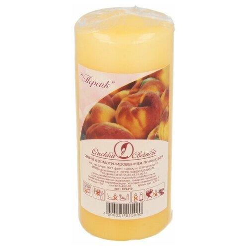 Свеча Омский Свечной Пеньковая ароматизированная 5 x 11 см персик (079419) бежевый