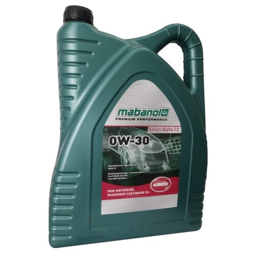 Синтетическое моторное масло Mabanol Xenon Alpha C2 0W-30 5 л