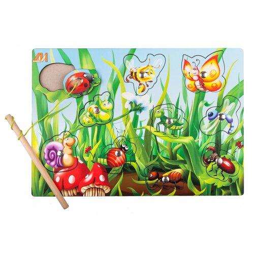 Рыбалка Деревянные игрушки Полянка новая разноцветный