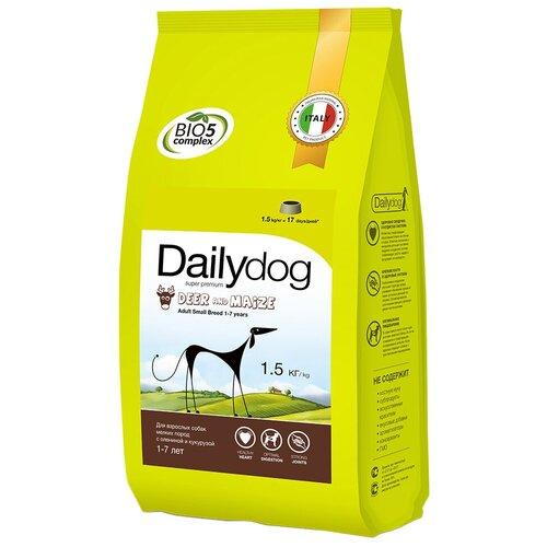 Сухой корм для собак DailyDog оленина, с кукурузой 1.5 кг (для мелких пород)