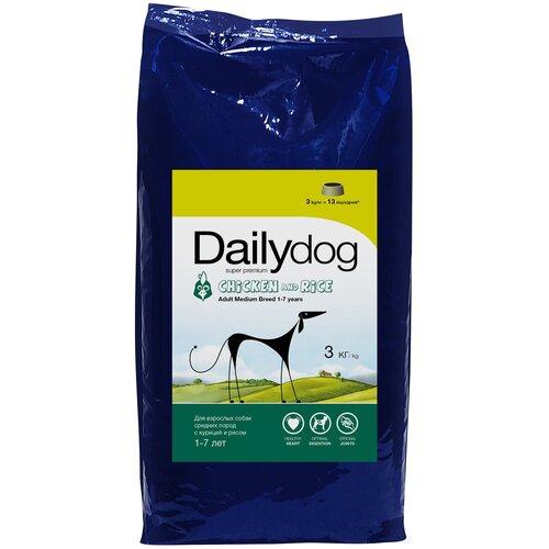 Сухой корм для собак DailyDog курица, с рисом 3 кг (для средних пород) недорого