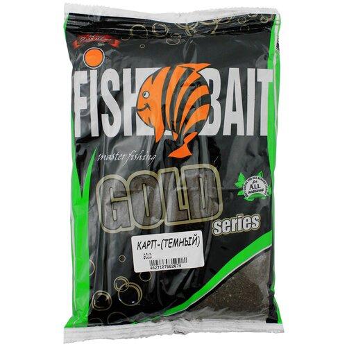 Прикормочная смесь FishBait Gold Карп Темный 1000 г