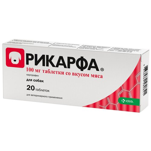 Фото - Таблетки Krka d. d. Рикарфа 100 мг, 20шт. в уп. таблетки krka d d рикарфа 50 мг 20шт в уп