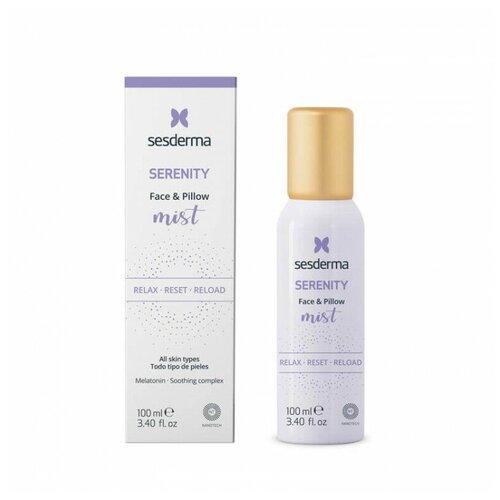 SERENITY Face & Pillow mist - Спрей-мист ночной для лица, 100 мл