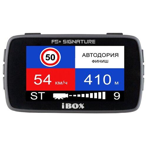 Видеорегистратор с радар-детектором iBOX Combo F5+ (PLUS) Signature, GPS, ГЛОНАСС, черный