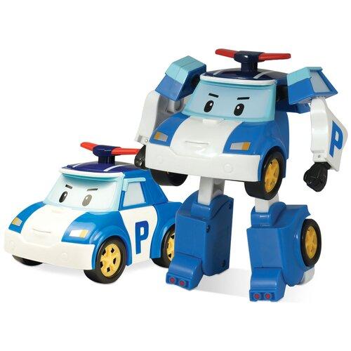 Купить Трансформер Silverlit Robocar Poli 10 см белый/синий, Роботы и трансформеры