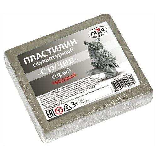 Купить Пластилин ГАММА Студия твердый серый 500 г (2.80.Е050.003.2), Пластилин и масса для лепки