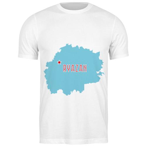 Футболка классическая Рязанская область. Рязань #2194518 (цвет: БЕЛЫЙ, пол: МУЖ, качество: ЭКОНОМ, размер: M)
