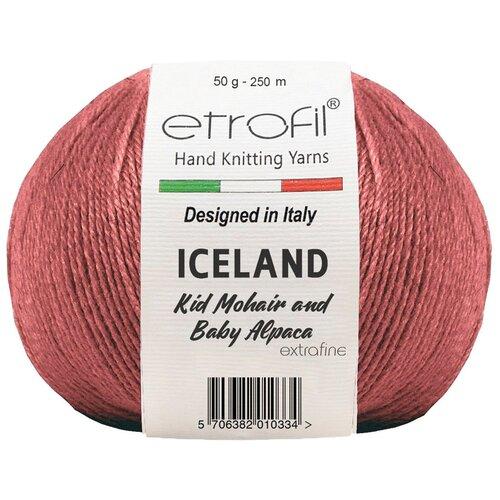 Купить Пряжа Etrofil 'ICELAND' 50гр 250м (10% кид мохер, 5% беби альпака, 55% полиамид, 30% вискоза) (70335 бургундия) 10 шт