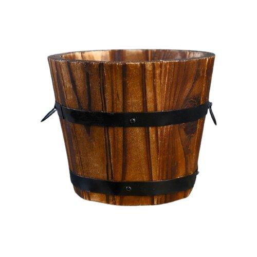 Кашпо Take It Easy Кадка круглая 10 х 10 см коричневый по цене 258
