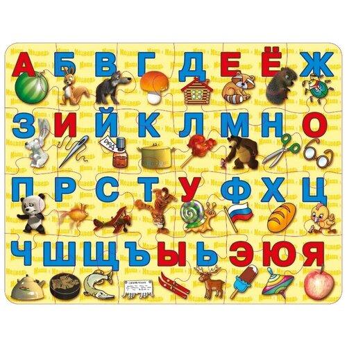 Пазл Десятое королевство Азбука с Машей и Медведем (01434), 24 дет. потанина ирина сергеевна математика с машей и медведем