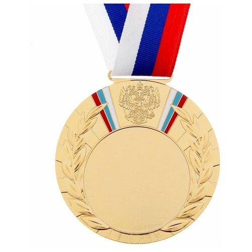 Медаль под нанесение 039 диам 8 см, триколор, цвет зол 1260000