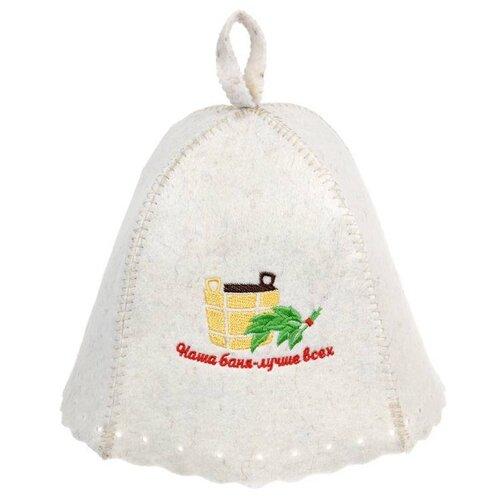 Фото - Шапка Наша баня - лучше всех! Hot Pot, войлок /20 (41165) шапка банная банные штучки добрая баня войлок 100