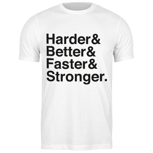 Футболка классическая Harder, Better, Faster, Stronger #1917054 (цвет: БЕЛЫЙ, пол: МУЖ, качество: ЭКОНОМ, размер: 2XL)