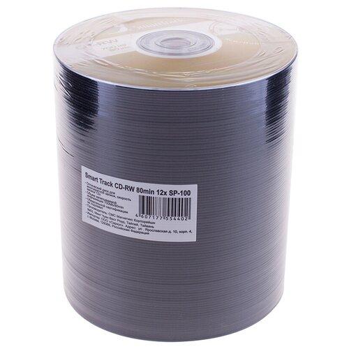 Фото - Диск CD-RW SmartTrack 700Mb 4-12x 100 шт bulk оптический диск cd rw mirex 700mb 4 12x cake box 10шт ul121002a8l