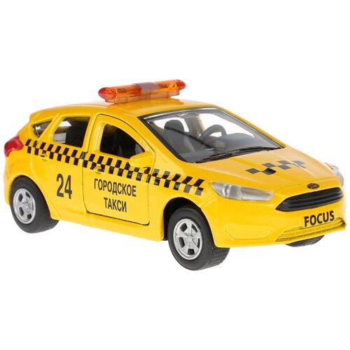 Купить Легковой автомобиль ТЕХНОПАРК Ford Focus (SB-17-81-FF-T-WB), 12 см, желтый, Машинки и техника