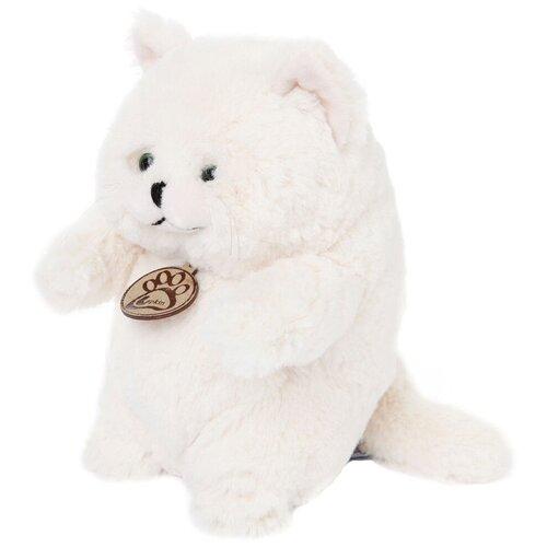 Мягкая игрушка Lapkin Толстый кот белый 16 см