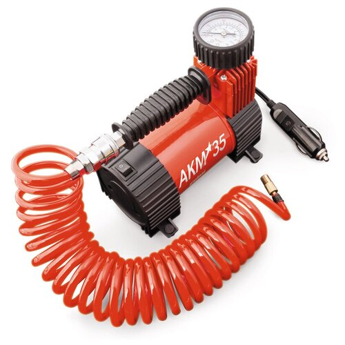 Автомобильный компрессор AUTOPROFI AKM-35 красный/черный