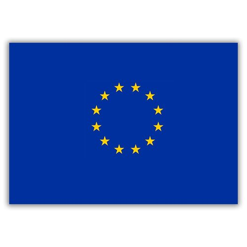 Магнит на холодильник малый - A5, Флаг Евросоюза