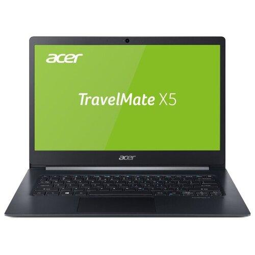 "Ноутбук Acer TravelMate X5 TMX514-51-76CT (Intel Core i7 8565U/14""/1920x1080/16GB/512GB SSD/DVD нет/Intel UHD Graphics 620/Windows 10 Pro) NX.VJ7ER.007 черный"