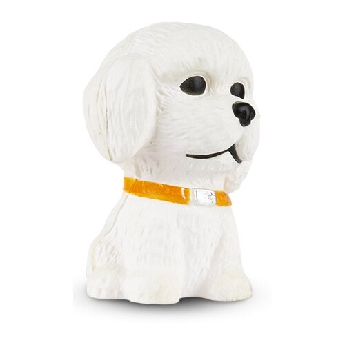 Игрушка-мялка Maxitoys Собака Бишон 8 см белый