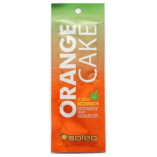 Фото - Крем для загара в солярии Soleo Orange Cake с экстрактом конопли 15 мл soleo ультраусилитель lime mousse загара с тирозином 150 мл