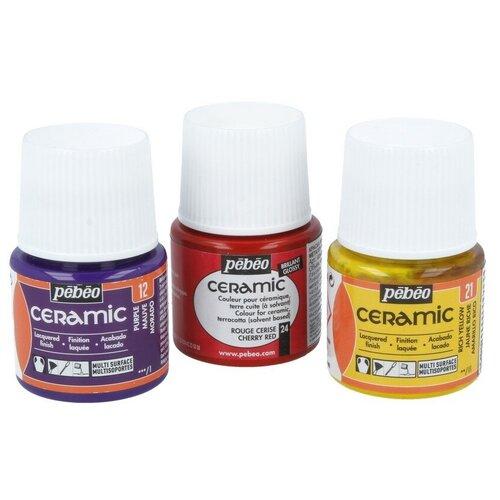 Купить Краски и контуры по стеклу и керамике PEBEO Краска по керамике и металлу Ceramic 45 мл 025-033 светло-желтый