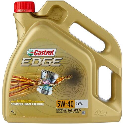 Синтетическое моторное масло Castrol Edge 5W-40 A3/B4, 4 л синтетическое моторное масло rixx tp x 5w 40 sn cf a3 b4 4 л