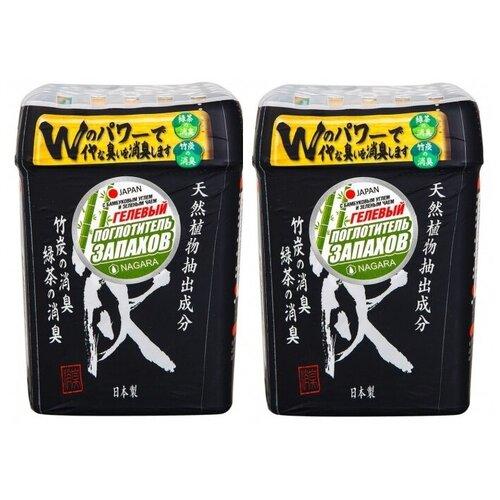 Набор NAGARA Поглотитель запаха гелевый с бамбуковым углем и зеленым чаем 320 г. 2шт