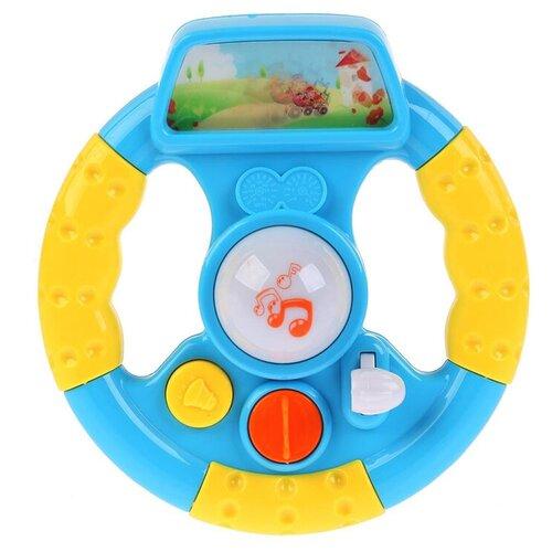 Развивающая игрушка Умка Музыкальный руль. Стихи М. Дружининой, голубой/желтый