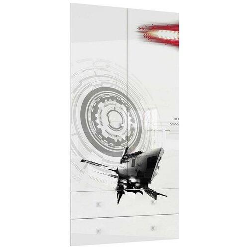 Дверца Stolline для шкафа Модерн-Техно СТЛ.328.04 белый с рисунком