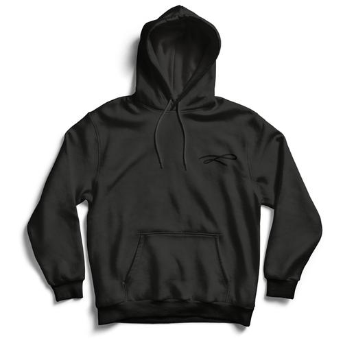 Толстовка ЕстьНюанс с принтом «Линия» черная, размер 3XL