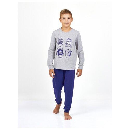 Купить Пижама Roxy Foxy размер 128, серый меланж/синий, Домашняя одежда