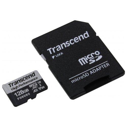 Фото - Карта памяти MicroSD 128GB Transcend 330S A2 V30 UHS-I U3 +SD адаптер карта памяти sdhc 32gb transcend class10 uhs i