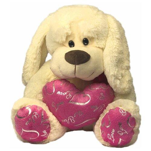 Мягкая игрушка собачка с сердцем, 32 см