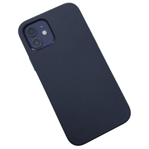 """Кожаный чехол K-DOO для Apple iPhone 12 mini (экокожа) темно-синий"""
