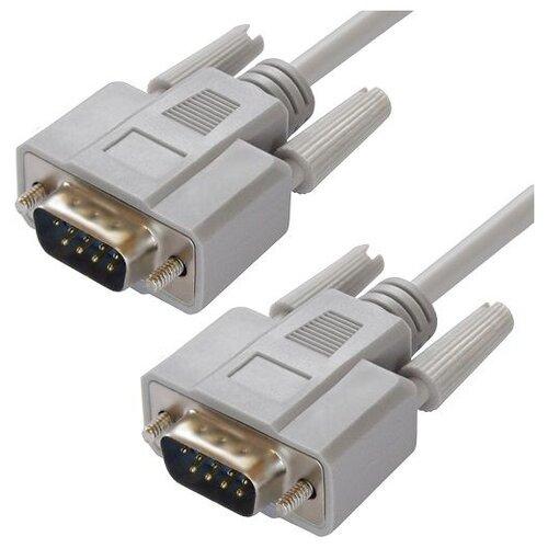 Кабель GCR DB9 RS-232 (M) - DB9 RS-232 (М) (GCR-DB902) серый 15 м