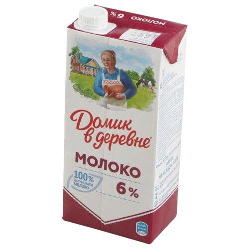 Молоко Домик в деревне ультрапастеризованное 6%, 0.95 кг