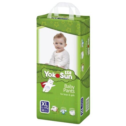 Фото - YokoSun трусики Eco XL (12-20 кг) 38 шт. yokosun трусики xl 12 20 кг 76 шт игрушка для ванной котик йоко