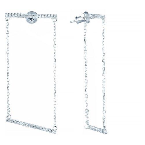 Фото - ELEMENT47 Серьги из серебра 925 пробы с фианитами E26651-W-SR-001-WG element47 серьги из серебра 925 пробы с иолитами и фианитами e 53 sr il 001 wg