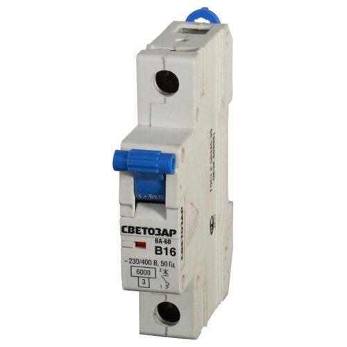 Автоматический выключатель СВЕТОЗАР 1P (B) 6kA 20 А
