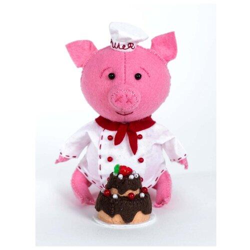 Купить ПФЗД-1011 Набор для создания игрушки из фетра серия Забавные друзья 'Поросёнок Пекарь', Перловка, Изготовление кукол и игрушек